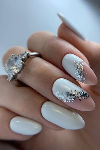 30 Stylish White Nail Designs Bridal Ideas | Wedding Forward