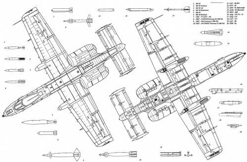 A-10  - copy plane blueprint wall art