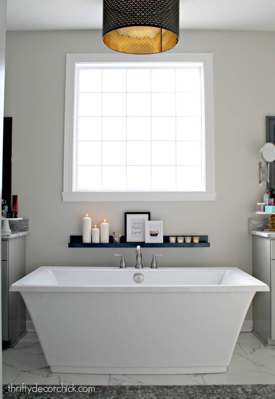 DIY display ledge for spa feel in the bathroom  Simple bathroom
