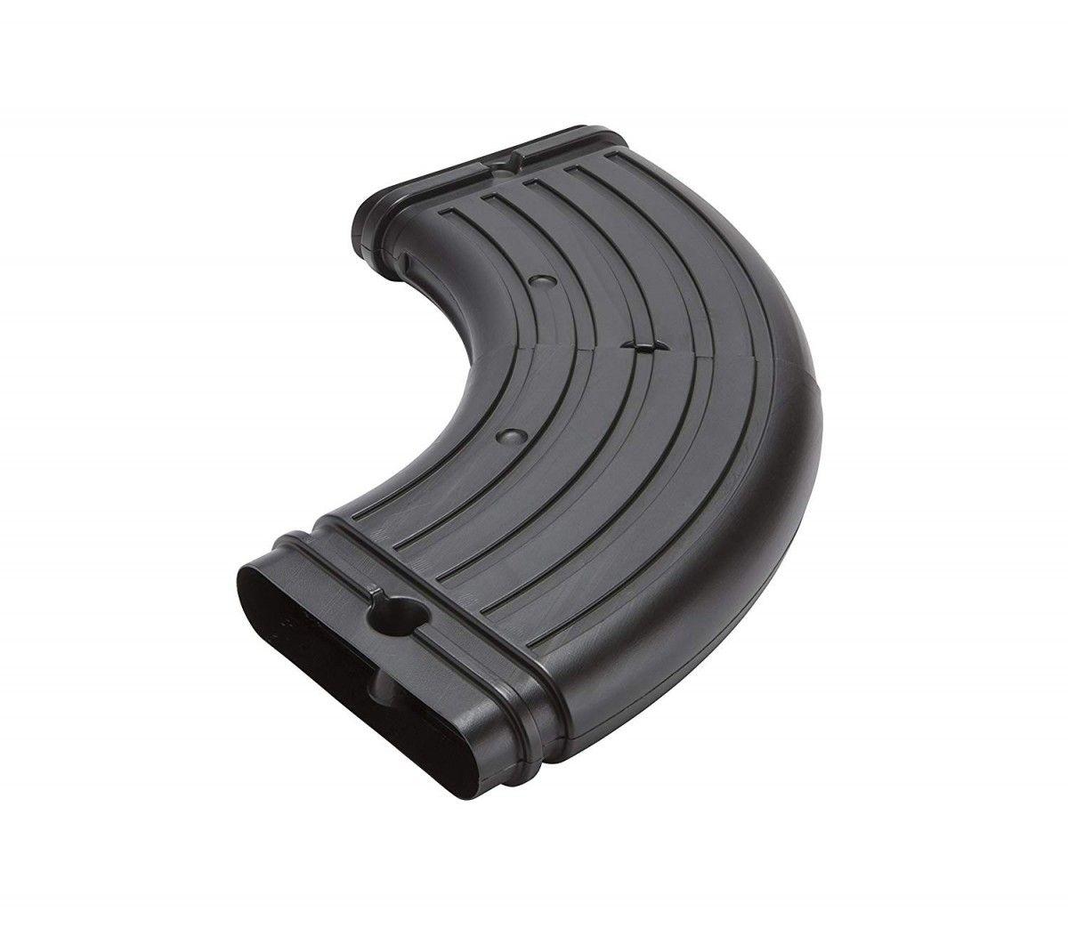 Amerimax 4631 Stealthflow Low Profile Downspout Adjustable Elbow Black Downspout Downspout Drainage Drainage
