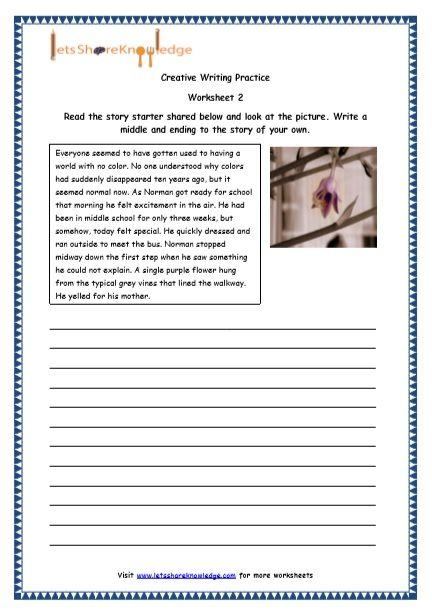 Grade 4 English Resources Printable Worksheets Topic Random Topics Essays Des Writing Practice Worksheets Printable Worksheets 2nd Grade Reading Worksheets Fourth grade writing worksheets