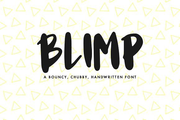 Download Blimp — A Handwritten Font by Mikko Sumulong on ...