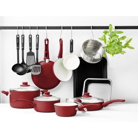 Greenlife Chef S Essentials Ceramic Non Stick 18pc Cookware Set