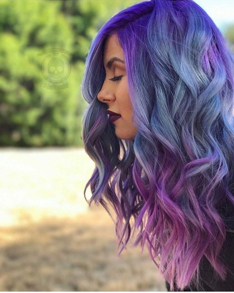 Purple Violet Pinkish Ombre Hair Color A Girl Touch T