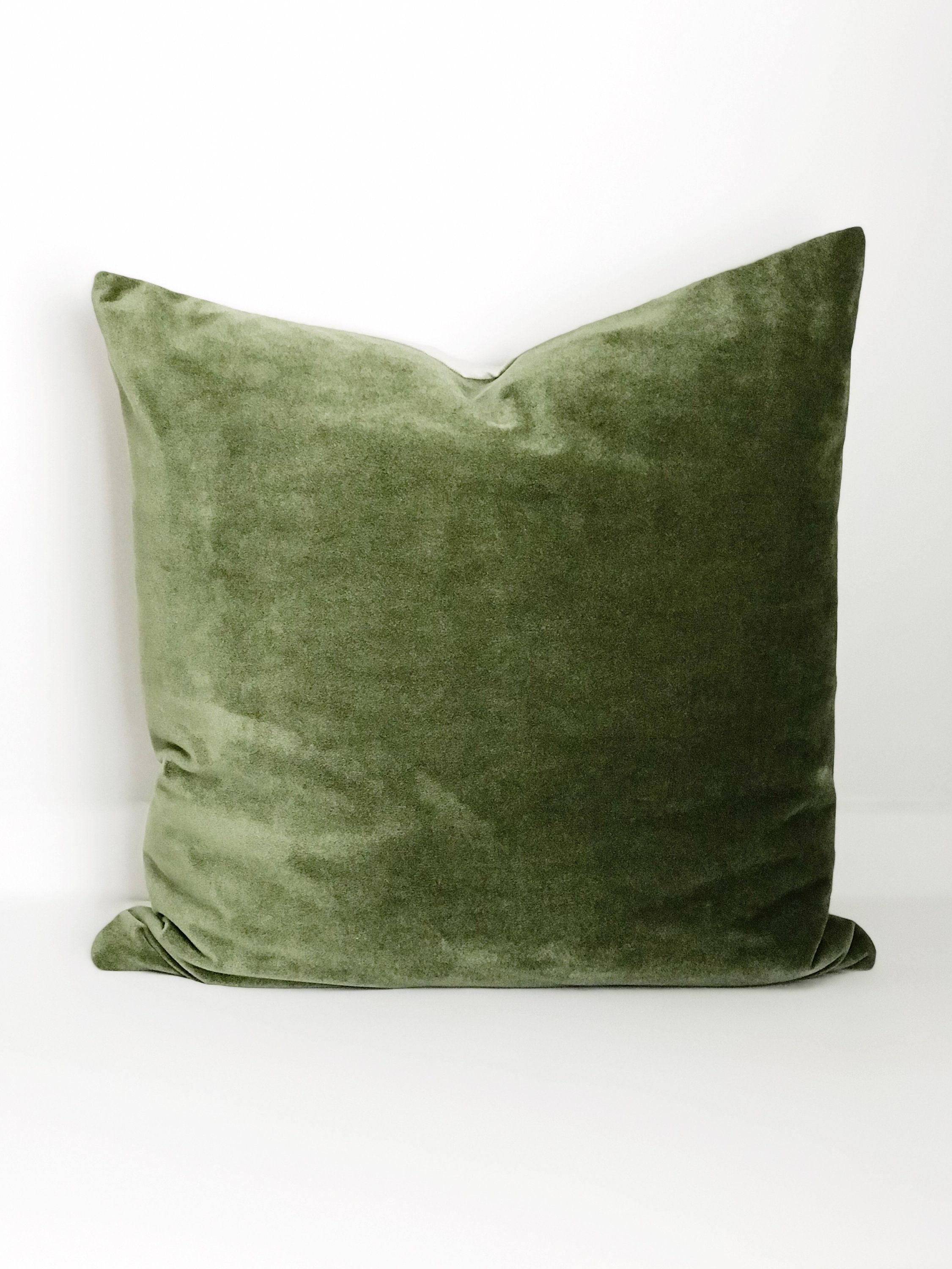 Boho Pillow Velvet Pillow Cover Olive Green Pillow Pillow Covers Throw Pillow Decorative Pillows Boh Olive Green Pillow Green Velvet Pillow Boho Pillows