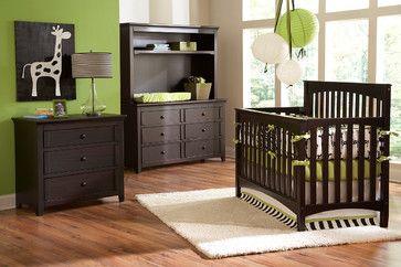 Espresso Crib And Green Wall Nursery Dream Furniture Cribs