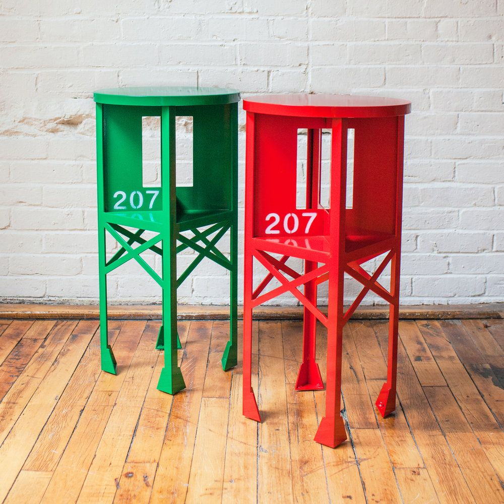 Channel Marker End Tables Pair In 2020 End Tables Beach Style Furniture Red Decor