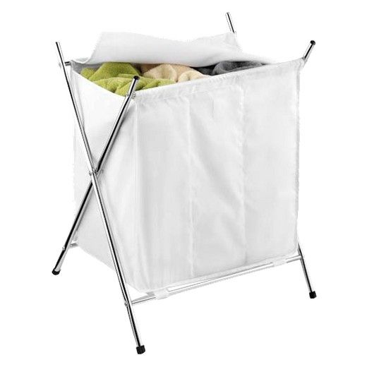 3 Compartment Folding Laundry Hamper Target With Images