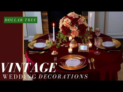 3 dollar tree wedding decorations diy vintage wedding centerpiece 3 dollar tree wedding decorations diy vintage wedding centerpiece fall wedding decor youtube junglespirit Gallery