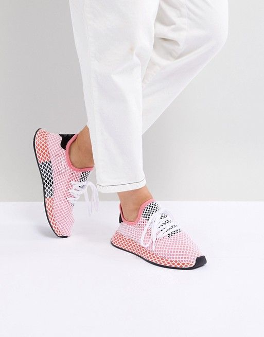 Adidas Originals deerupt Runner zapatillas en color rosa y rojo de un paseo en