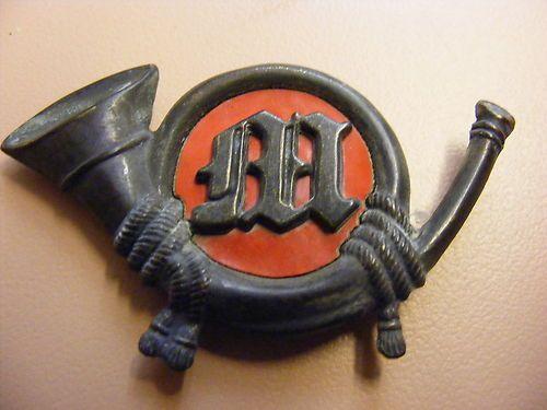 c6e2b95e235 ORIGINAL CIVIL WAR USMC MARINE CORPS BADGE INSIGNIA FORAGE CAP KEPI ...