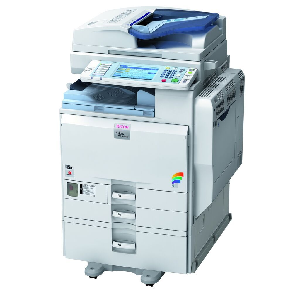 Details About Ricoh Mpc4500 Color Printer 4 Paper Trays Duplexing