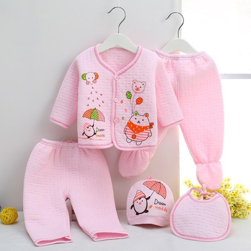 3a8076990 Neonatal Warm Underwear 5 Pieces Set Newborn Baby Clothing Set ...