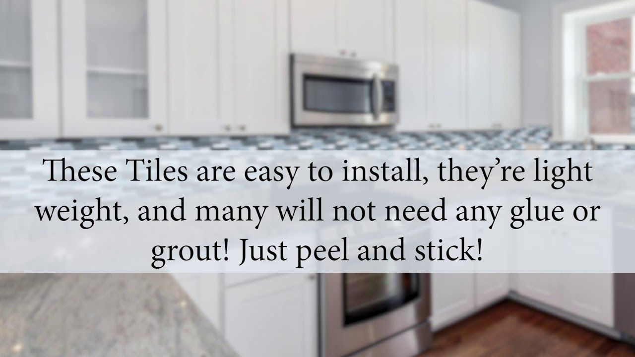 Diy How To Install Peel Stick Vinyl Tile Backsplash Wallpaper Backsplash Wallpaper Vinyl Tile Backsplash Stick Tile Backsplash
