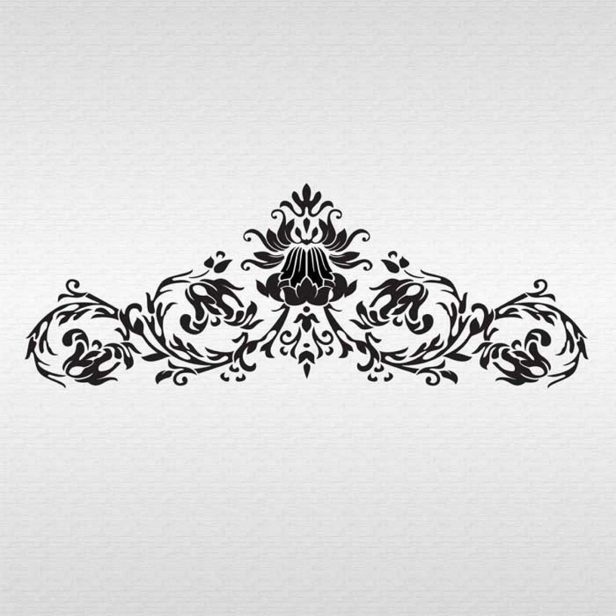 simple damask stencil - HD1200×1200