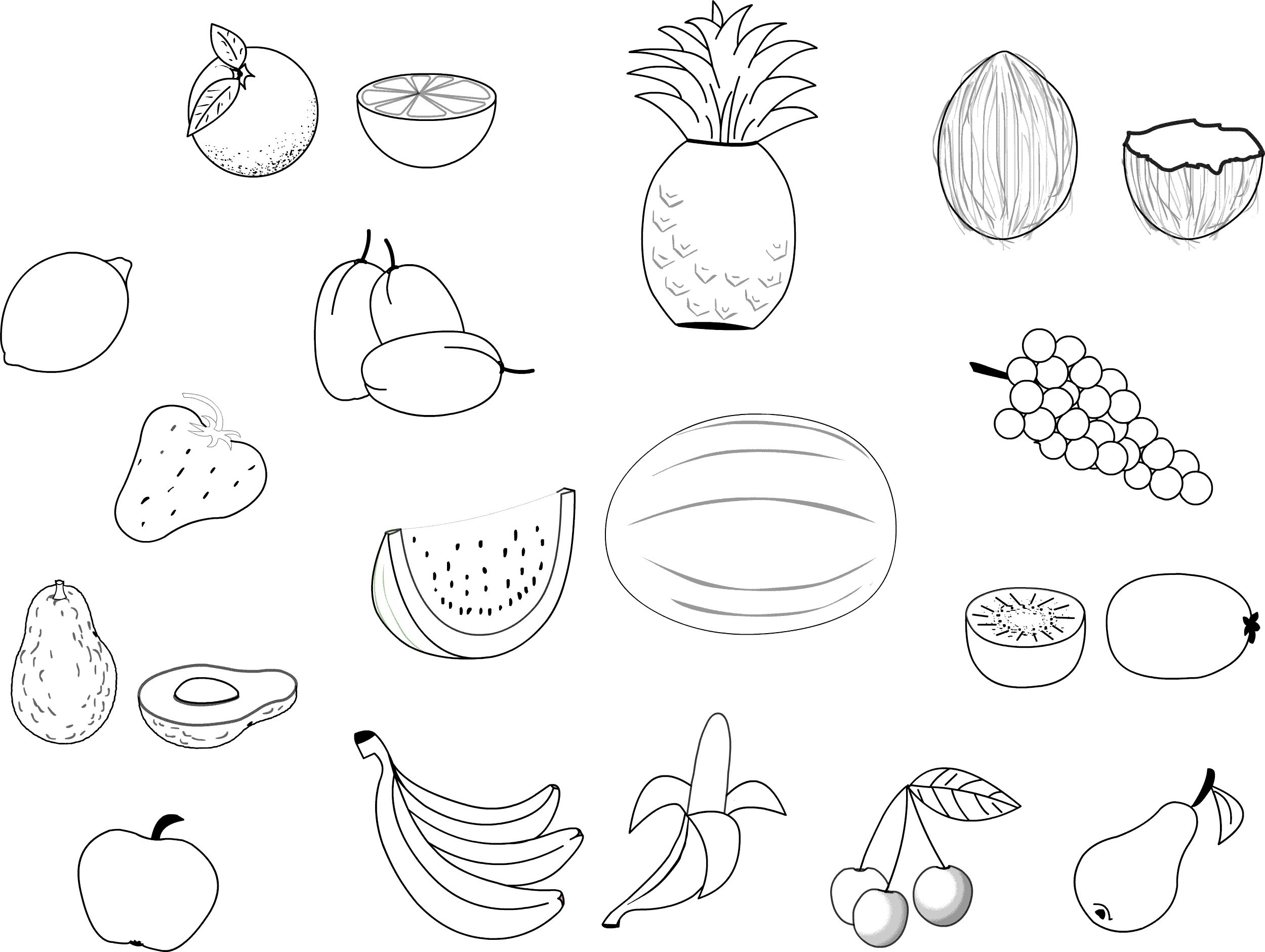 Fruits And Vegetables Coloring Pages Free Printable Fruit Coloring Pages For Kids Albanysinsanity Com Malvorlagen Zum Ausdrucken Kostenlose Ausmalbilder Kinderfarben
