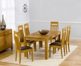 Savanna Oak Dining Set   150cm With 6 Monte Carlo Chairs