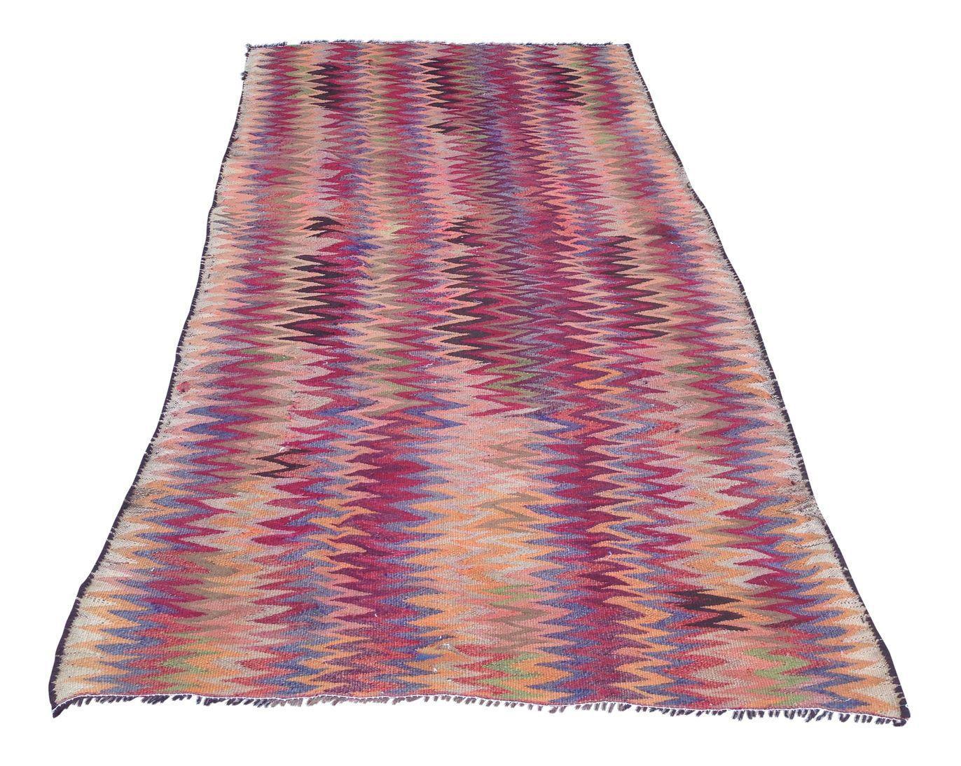 Handmade Vintage Kilim uu uu Geometric designs Persian