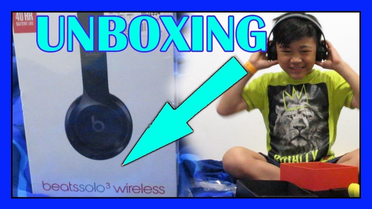 When A Kid Unboxed A Beats Solo 3 Wireless Headphone Vincetylertv Youtube Beats Solo Unboxing Beats Solo 3