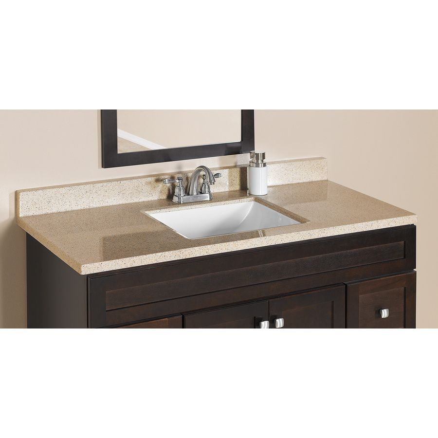 Shop Style Selections Dune Dune Solid Surface Integral Single Sink Bathroom  Vanity Top (Common:
