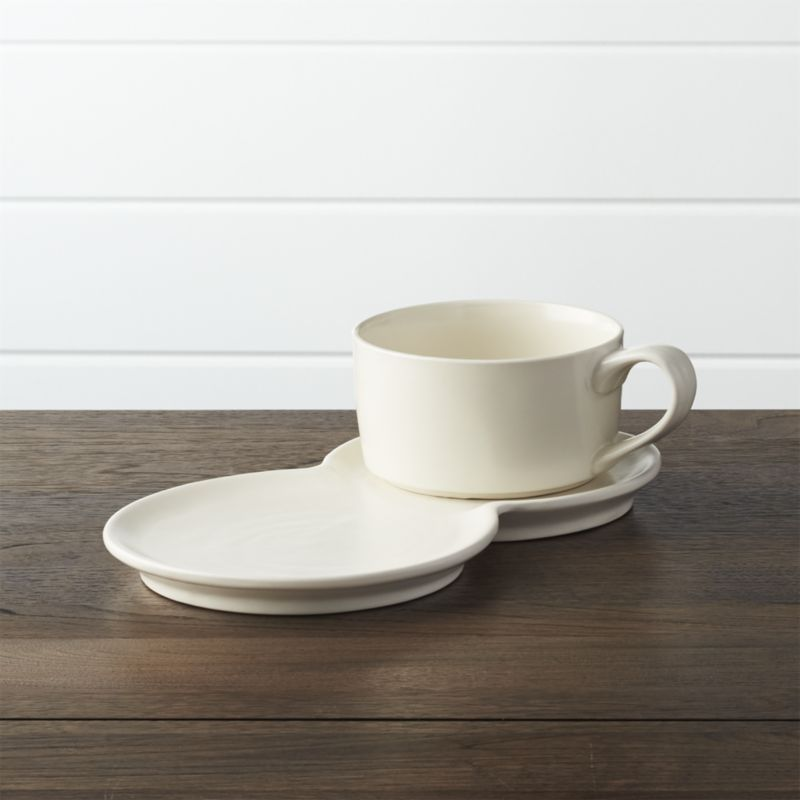 Soup and Sandwich Set - Crate and Barrel : soup mug and sandwich plate set - Pezcame.Com