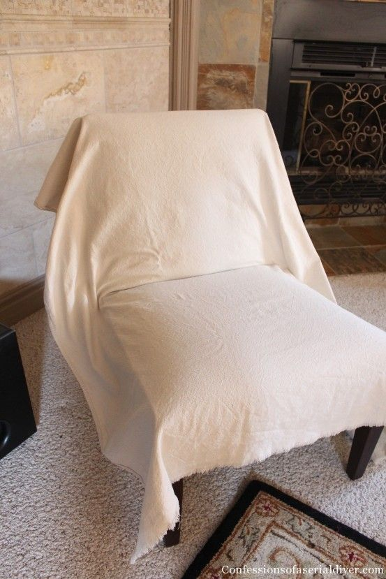 Slipcover For Armless Chair Banquet Trolley Slipcovering An Accent Upholstery And Slipcovers Slip Covering