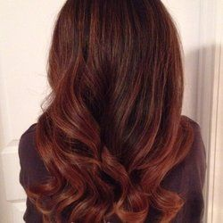 J Hair Studio - Greenville, SC, United States. Rich auburn Balayage for the autumn season by Mindy Lee