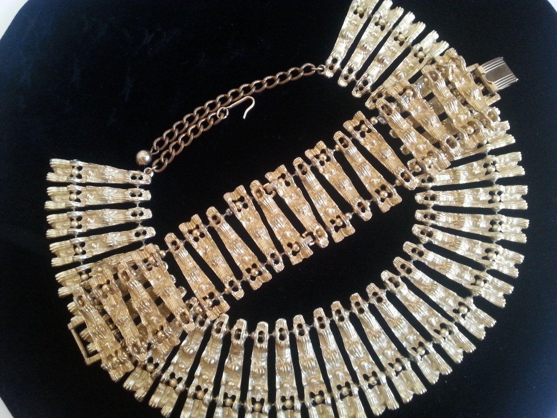 Vintage bsk necklace bracelet set designer signed jewelry demi