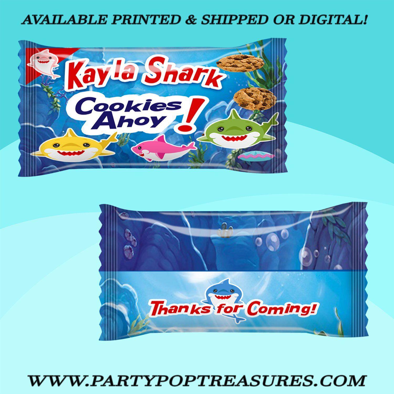 Shark Cookie Wrapper Shark Party Favor Party Favor Shark