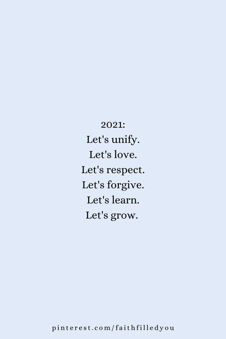 Let's be our best version this year