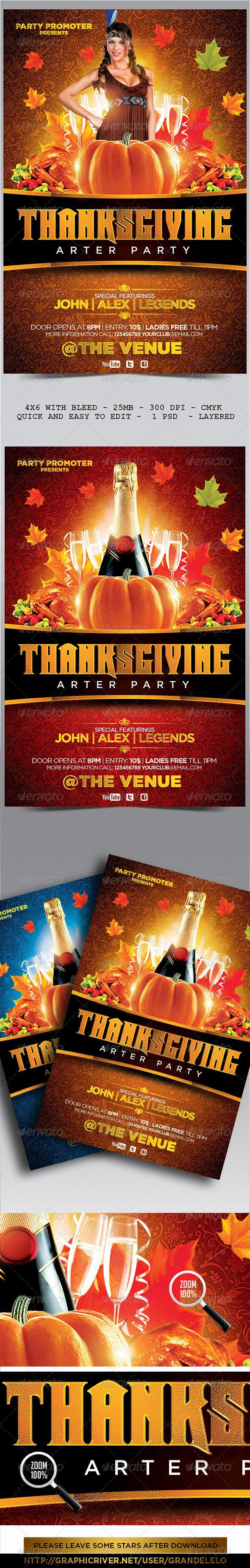 Thanksgiving Flyer Template Flyer Template Template And Thanksgiving