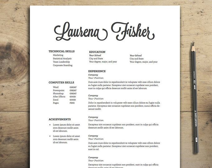 Resume Template Resume Design Cv Design The Fisher Resume