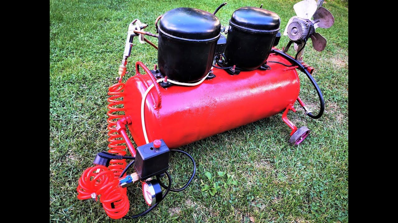 Homemade Silent Air Compressor using Two Refregrator