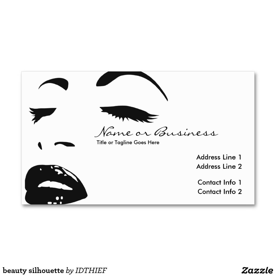 Beauty silhouette business card business cards silhouette and beauty silhouette business card reheart Image collections