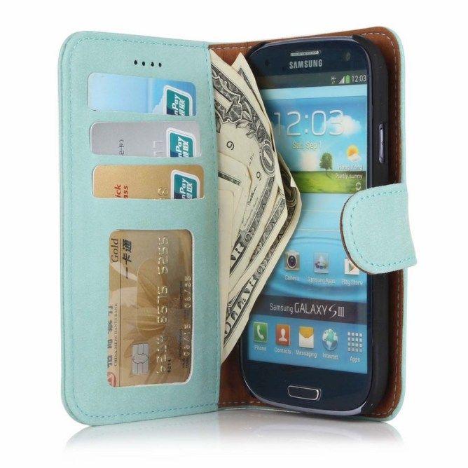 Golden Phoenix Samsung Galaxy S3 Handyhuelle Royal Wallet-Case Wildleder türkis
