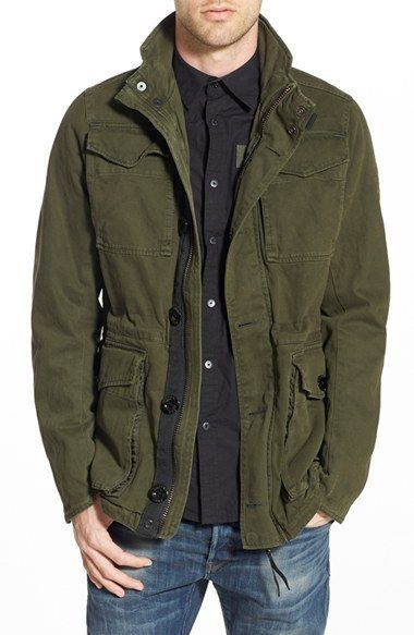 bfddc7276e19d G-Star Raw Men's 'Falco' Field Military Army Jacket Forest Green Large NWT  $220…