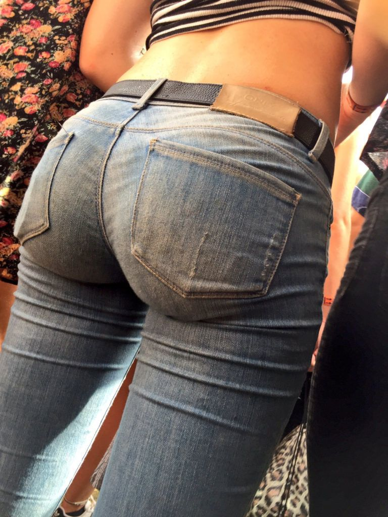 Sexy ass tight jeans tangas