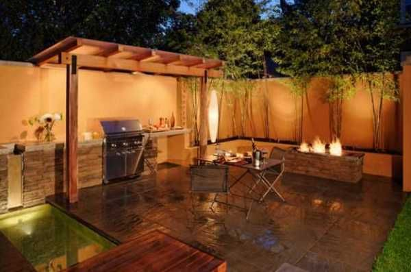 Backyard barbeque backyard bbq patio designs garden for Backyard built in bbq ideas