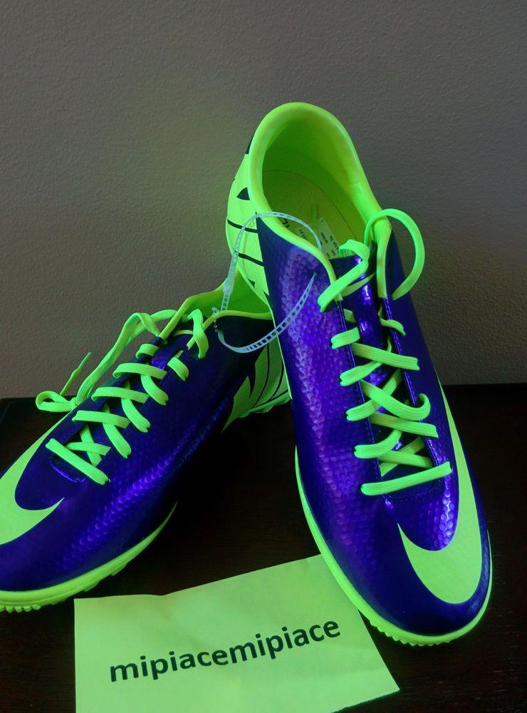 083dc18f998e New Nike Mercurial Victory IV TF Mens Turf Soccer Cleats - Purple / Neon  Volt #Nike