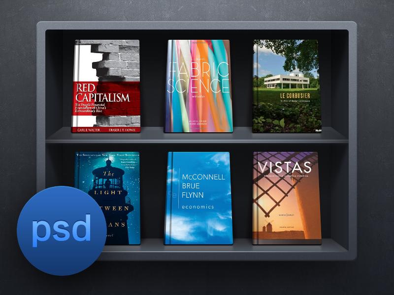 Bookshelf UI Free PSD By Sanadas Young