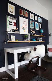 Desk. Wall.