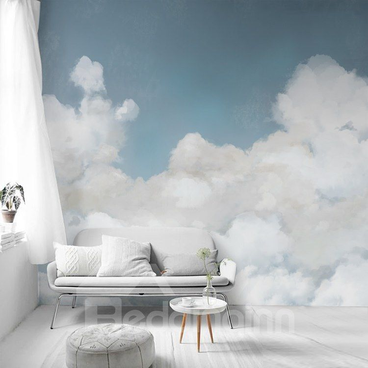 environment friendly waterproof non woven fabrics cloud on wall cloud id=31723