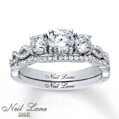 Neil Lane Bridal Set 1 1 3 Ct Tw Diamonds 14k White Gold Neil Lane Bridal Set Bridal Ring Sets Unique Bridal Jewelry