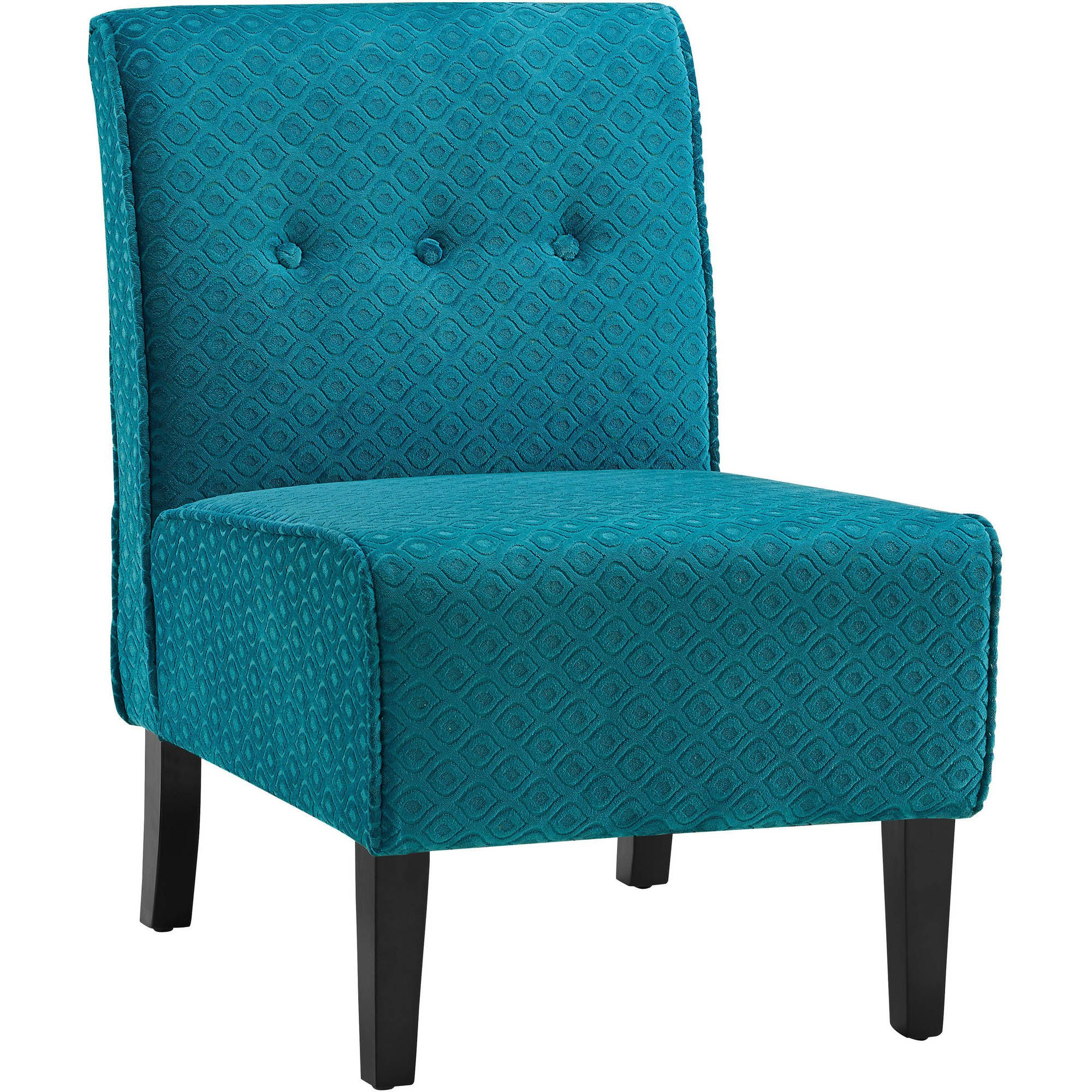 Coco teal blue accent chair blue accent