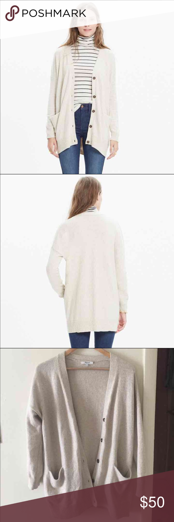 Madewell beige cream oversized cardigan - small Great condition ...