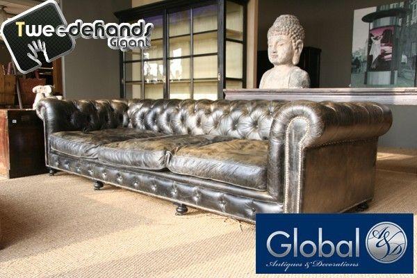 Chesterfield Stoel Tweedehands : Design chesterfield bank global antiek en design den bosch