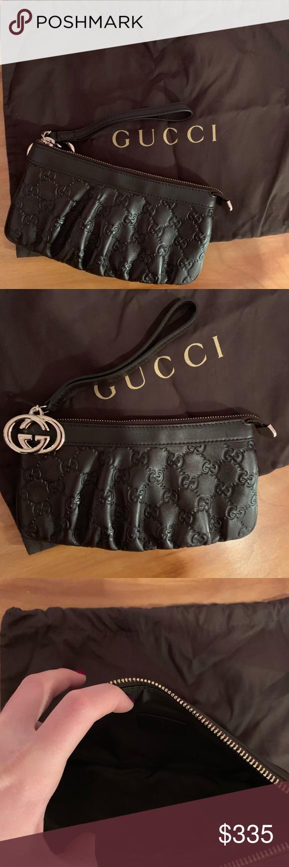 13febd4c78c Gucci leather wristlet Gucci GG Guccissima leather wristlet - brown with  Gucci pochette bag- interlocking G s Designer id  212203 Never been worn ...