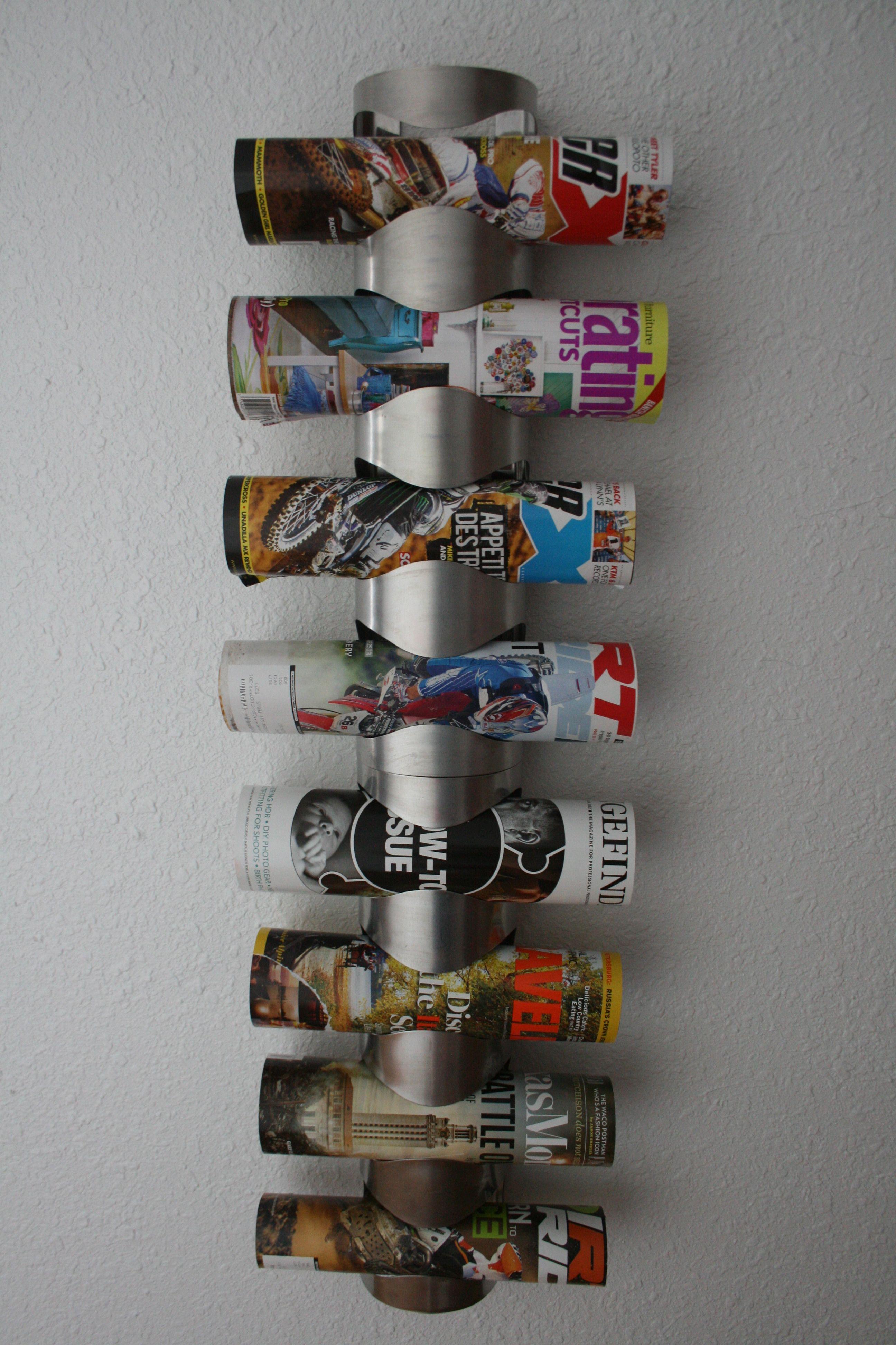 Ikea Wine Rack Turned Magazine Rack Home Pinterest