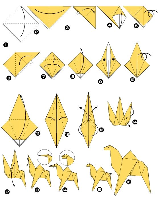 Image detail for les diff rentes tapes pour r aliser un origami de drom - Origami simple a realiser ...