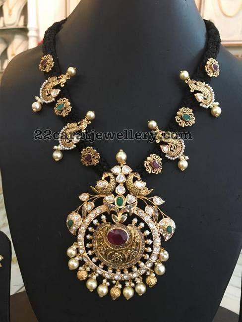 Black Thread Grand Necklace
